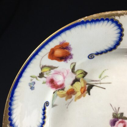 Derby Plate in the Sèvres manner, flower groups, c.1810 -26543