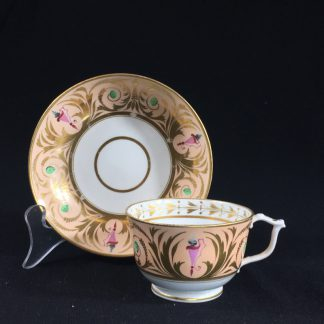Derby cup & saucer, classical urn pattern, c. 1810 -0