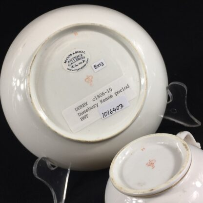 Derby cup & saucer, classical urn pattern, c. 1810 -26540