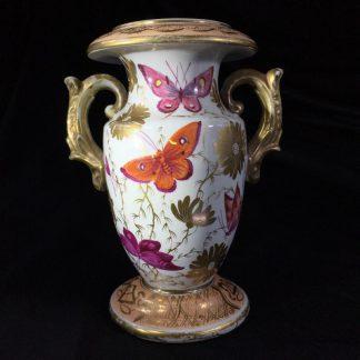 Mason's porcelain vase painted with butterflies, c. 1810-0