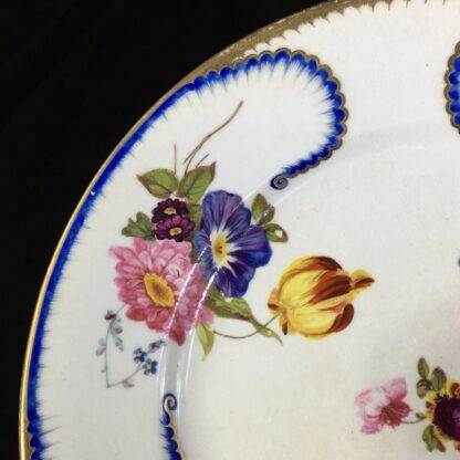 Derby plate in the Sèvres manner, summer flowers, c.1810 -26811