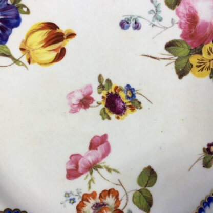 Derby plate in the Sèvres manner, summer flowers, c.1810 -26816