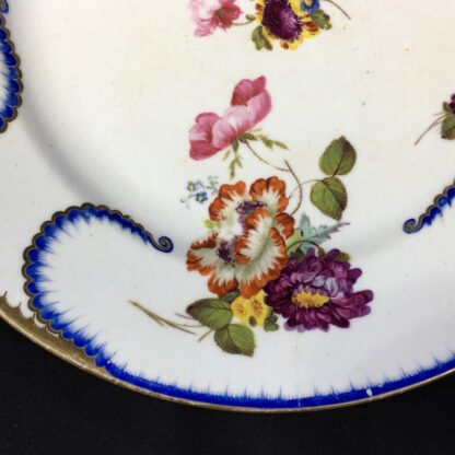 Derby plate in the Sèvres manner, summer flowers, c.1810 -26813