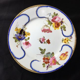 Derby plate in the Sèvres manner, superb flowers, c.1810 -0