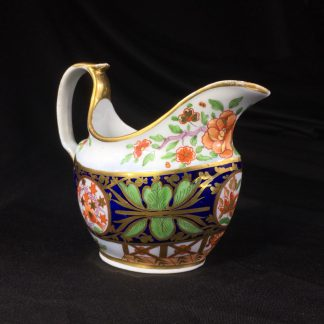 Coalport porcelain milk jug, Imari pattern with birds, c. 1810-0