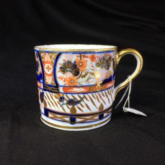 John Rose Coalport coffee can, rich Imari including cranes, c.1805-0