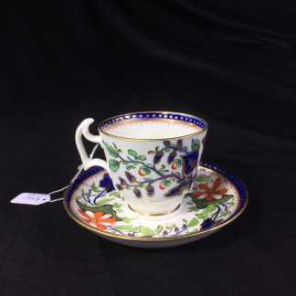 Swansea cup & saucer, London shape with Imari pattern, c. 1820 -0