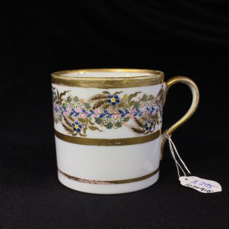 English porcelain coffee can, attributed to Neale & Co, c.1790-0