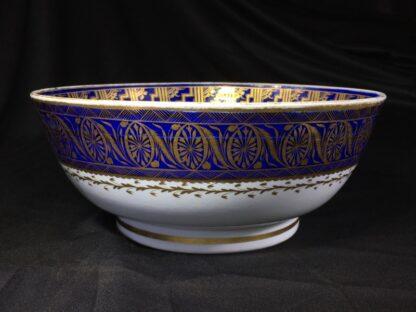 Large Miles Mason porcelain punch bowl, gilt borders on blue, c. 1805-26933
