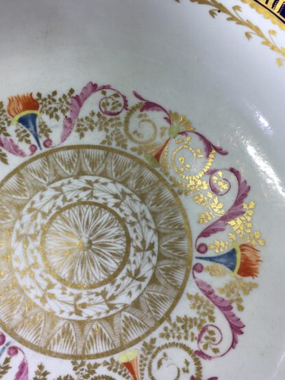 Large Miles Mason porcelain punch bowl, gilt borders on blue, c. 1805-26936