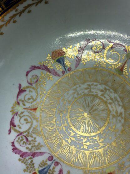 Large Miles Mason porcelain punch bowl, gilt borders on blue, c. 1805-26941