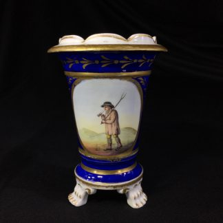 English porcelain spill vase, farmer, possibly Bourne, c. 1830 -0