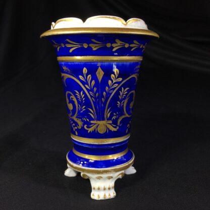 English porcelain spill vase, farmer, possibly Bourne, c. 1830 -26996