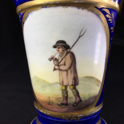 English porcelain spill vase, farmer, possibly Bourne, c. 1830 -27000