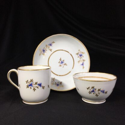 Early Newhall trio, pattern #213, flower sprays, c.1790-27006