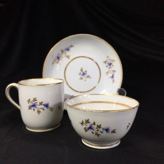 Early Newhall trio, pattern #213, flower sprays, c.1790-0
