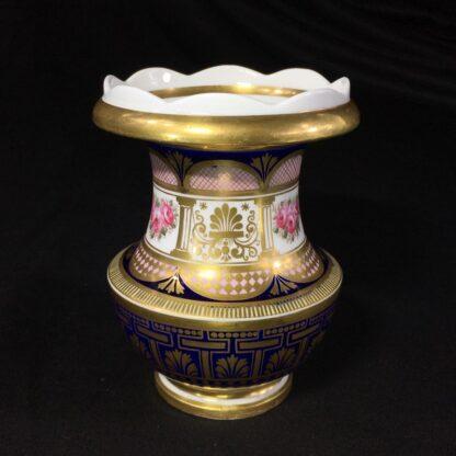 English porcleian spill vase, rich gilt & roses, att. Charles Bourne, c. 1830 -0