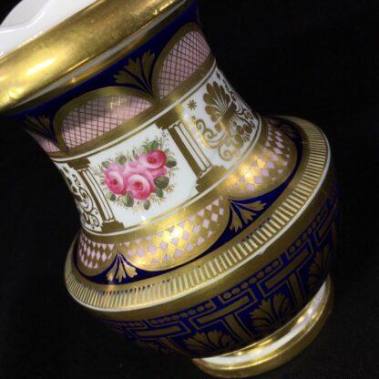 English porcleian spill vase, rich gilt & roses, att. Charles Bourne, c. 1830 -26953