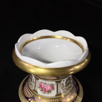 English porcleian spill vase, rich gilt & roses, att. Charles Bourne, c. 1830 -26952