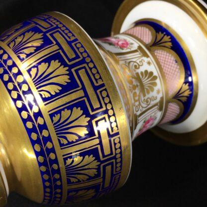 English porcleian spill vase, rich gilt & roses, att. Charles Bourne, c. 1830 -26956