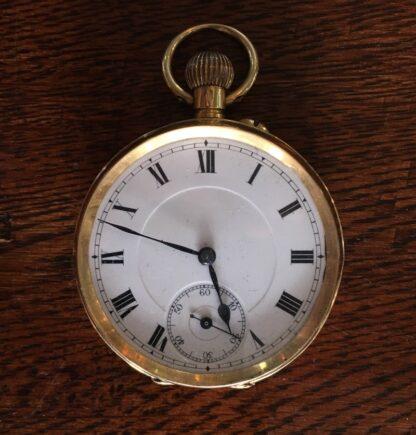 Swiss pocket watch, 18K gold case-0