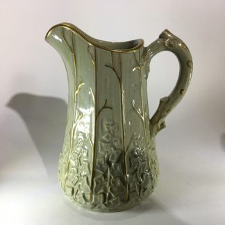 Victorian jug moulded with wood & ivy, Morely & Ashworth, c.1860 -0