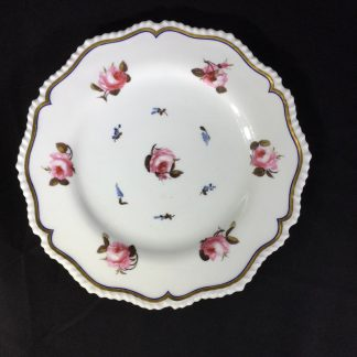 Flight Barr & Barr plate, roseheads & forget-me-nots, c. 1807-13-0
