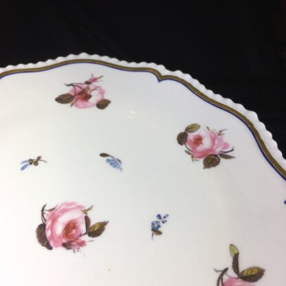 Flight Barr & Barr plate, roseheads & forget-me-nots, c. 1807-13-27213