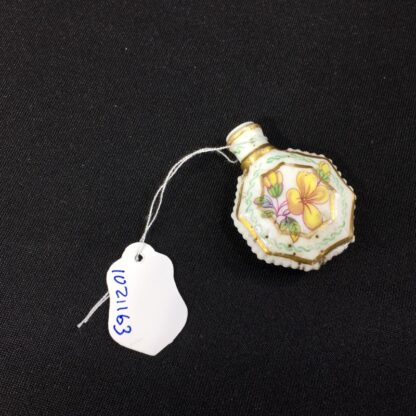 Unusual miniature English porcelain scent, moth decorated, c. 1835-27306