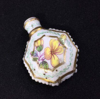 Unusual miniature English porcelain scent, moth decorated, c. 1835-27303