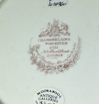 Chamberlains Worcester plate, Fancy Birds in monotone landscapes, c. 1830 -27284