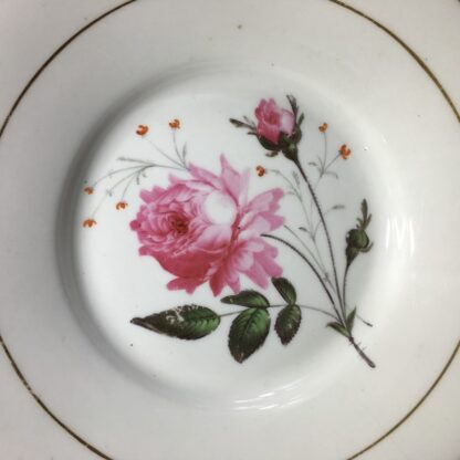 English porcelain plate with rose, c. 1825-27227