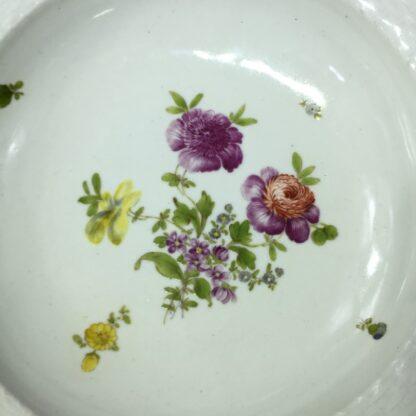 Vienna soup bowl, basketweave with flower dec, c. 1760 -27572