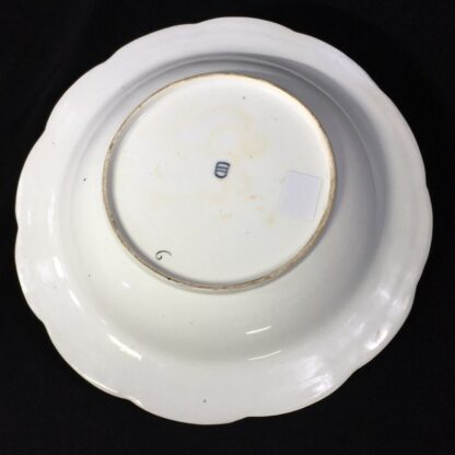 Vienna soup bowl, basketweave with flower dec, c. 1760 -27575