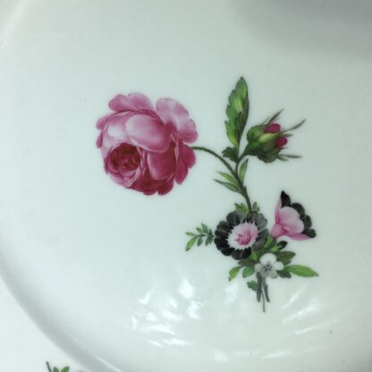 Berlin Plate decorated with a pink rose, c.1880-27563