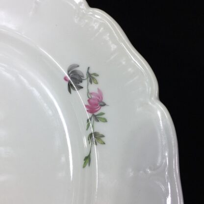 Berlin Plate decorated with a pink rose, c.1880-27562