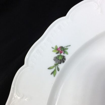 Berlin Plate decorated with a pink rose, c.1880-27565