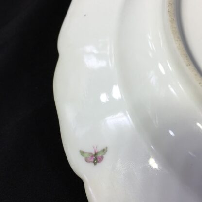 Berlin Plate decorated with a pink rose, c.1880-27569