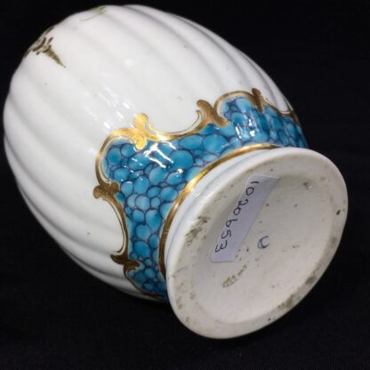Worcester tea canister and cover, flower swags, c. 1775 -27499