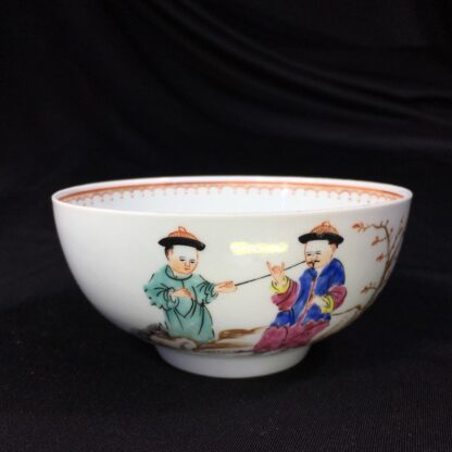 Worcester bowl, Chinese Family decoration, c. 1760-0