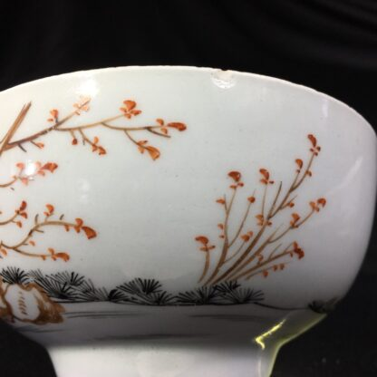 Worcester bowl, Chinese Family decoration, c. 1760-27464