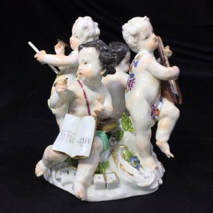 Meissen group, four children representing 'The Arts', c. 1755-0