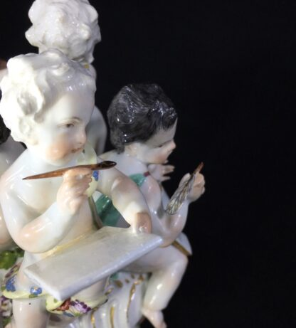 Meissen group, four children representing 'The Arts', c. 1755-27453