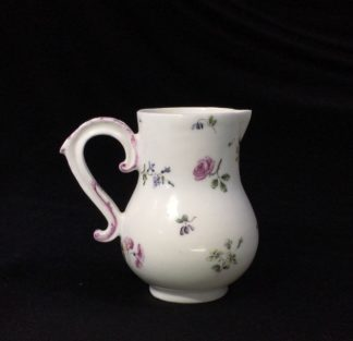 Mennecy milk jug with Sevres style flowers, c.1755-0