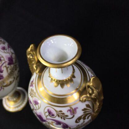 Pair Royal Crown vases, richly gilt, c. 1890 -27375