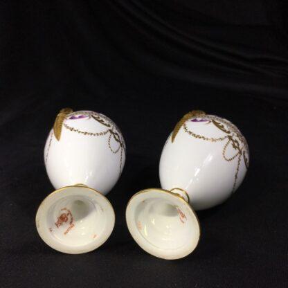 Pair Royal Crown vases, richly gilt, c. 1890 -27376