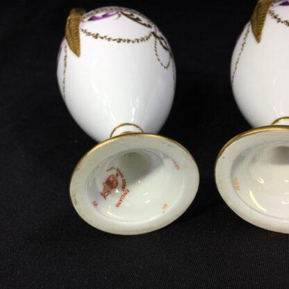 Pair Royal Crown vases, richly gilt, c. 1890 -27379