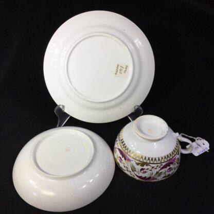 Derby cup & saucer & plate, pattern 52, circa 1820-27806