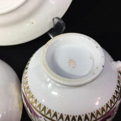 Derby cup & saucer & plate, pattern 52, circa 1820-27809