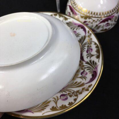 Derby cup & saucer & plate, pattern 52, circa 1820-27811